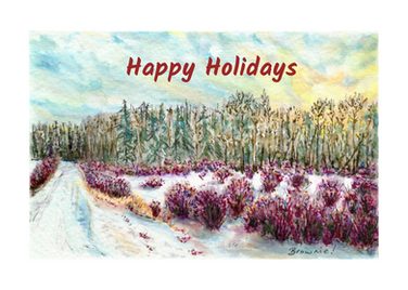 Happy Holidays (Winter Light on Woods and Willow): Item # - S10