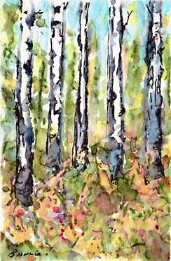 A Tiny Trio - Autumn Aspen 3