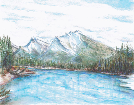 Upstream from Canmore