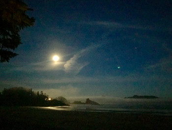 Full Moon at Chesterman Beach, Tofino