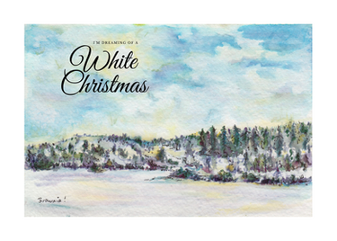 White Christmas (Winter in the Foothills): Item # - S7