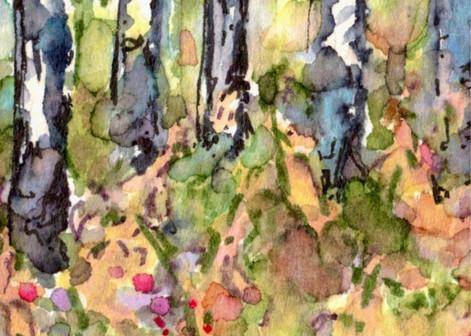 Autumn Aspen Abstract 3: Item # - A6