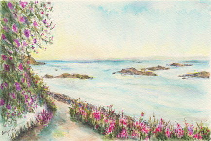 Along the Seaside Path in Summer: Item # - A43