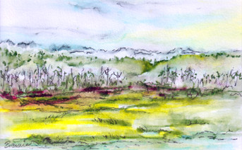 Meadow and Mountains: Item # - A26