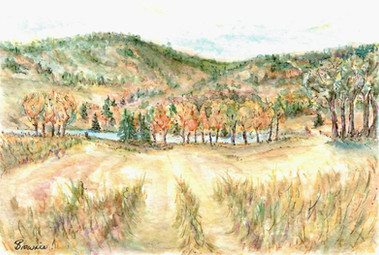 Through the Field in Autumn: Item # - A56