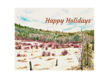 Happy Holidays (Fawn Hills in Winter): Item # - S12