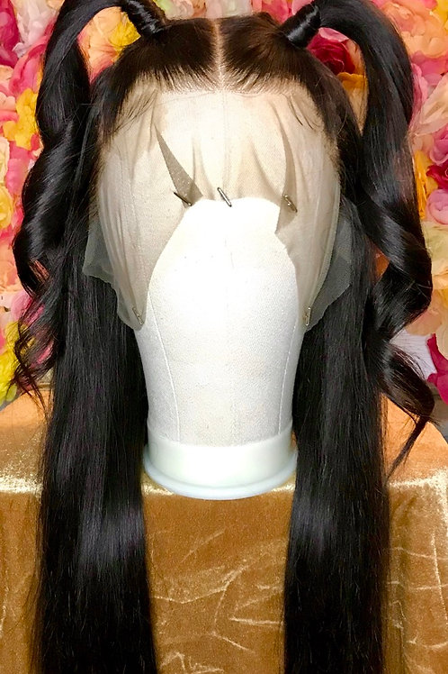 "STRAIGHT 18"" 13x6 LACE FRONTAL DEEP PART 9A GRADE WIG"