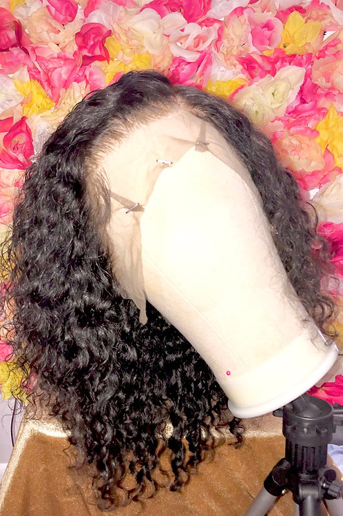 """DEEP WAVE 14"""" 13x6 DEEP PART LACE FRONTAL 9AGRADE WIG"""