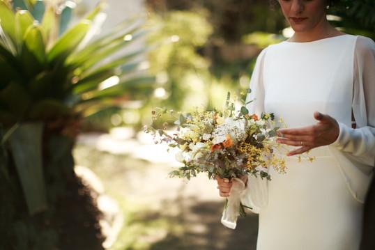 Andrea e seu bouquet