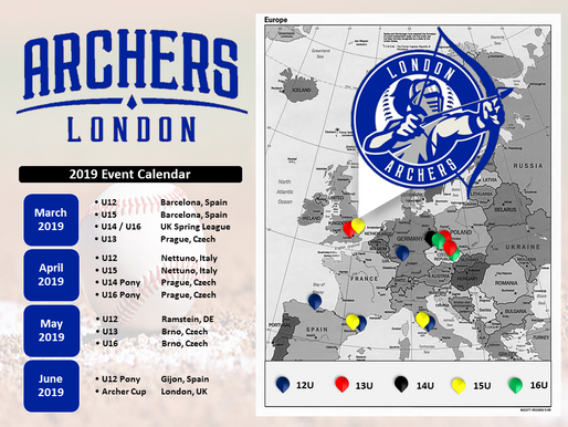 London Archers 2019 travel schedule is published!!