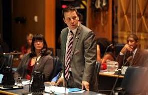 Ken Speaking in the TDSB boardroom