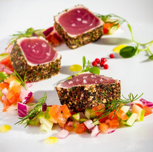 Pan Seared Tuna - by Vela VRMM catering
