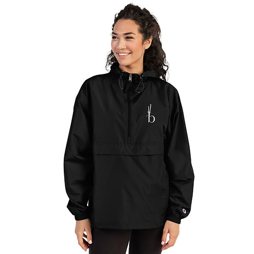 Bamboo Barre Embroidered Champion Packable Jacket