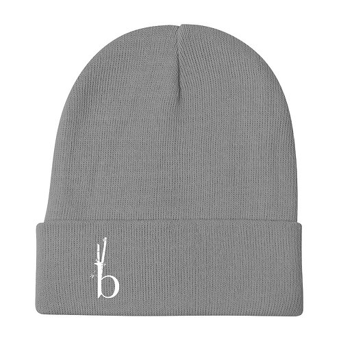 Bamboo Barre Embroidered Beanie