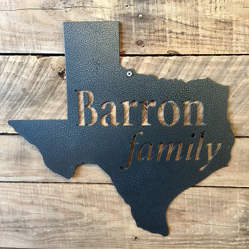Texas Family Sign