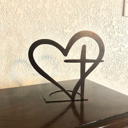 Heart Cross Mantel Piece