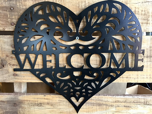 Heart Welcome Sign