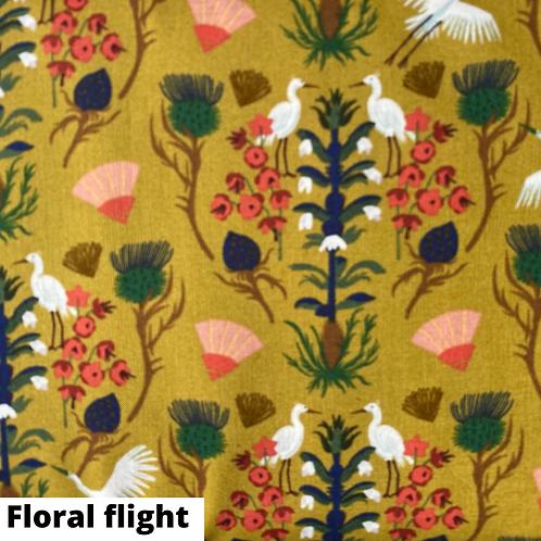Coupon tissu bio Floral Flight Cloud9