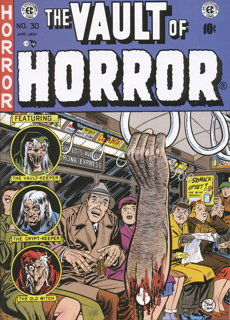 Johnny Craig art: The Vault of Horror No. 30, 1950. Vault of Horror and the EC Logo are trademarks and the displayed artwork is copyrighted material owned by William M. Gaines, Agent, Inc.  All Rights Reserved