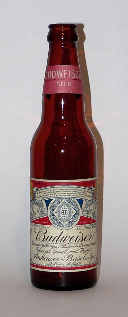 Prohibition-era Budweiser bottle