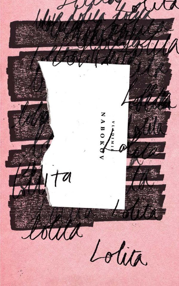 An alternate cover for Nabokov's Lolita, designed by Ben Wiseman