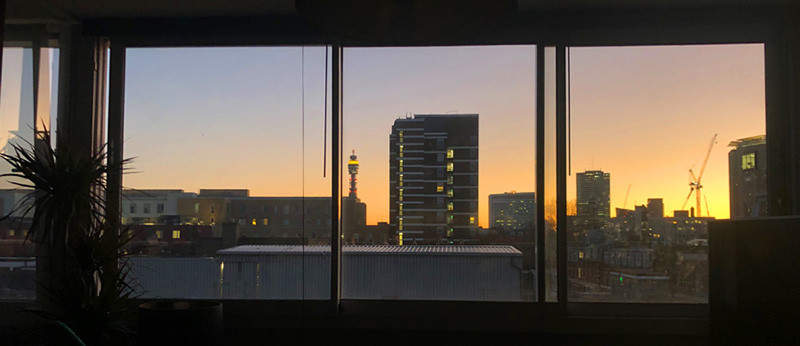 I'm blessed to have such a view, with windows that open like a balcony to reveal amazing skies.