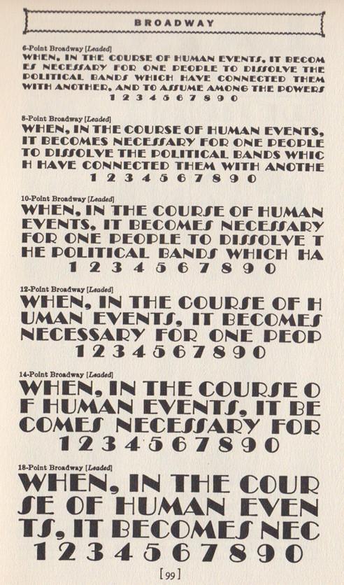 Broadway Art Deco typeface