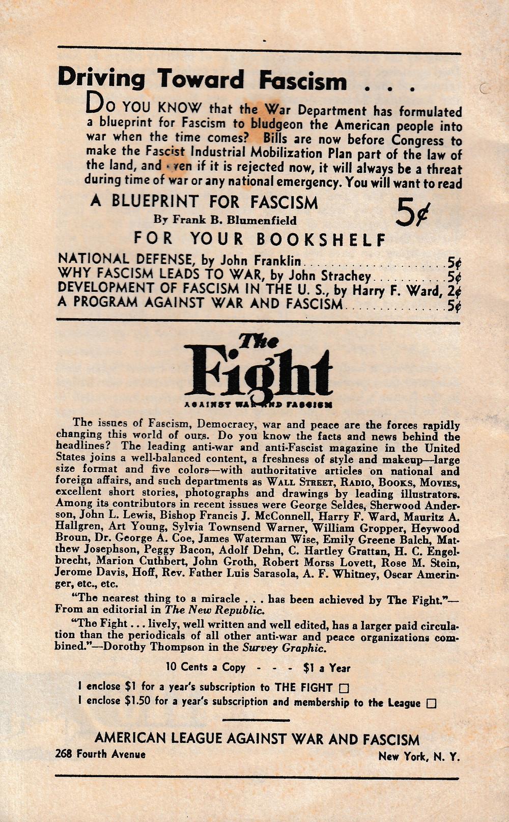 Billions for Bullets was an anti-war publication.