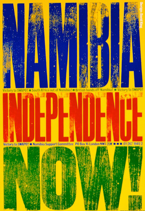 Namibia independence poster