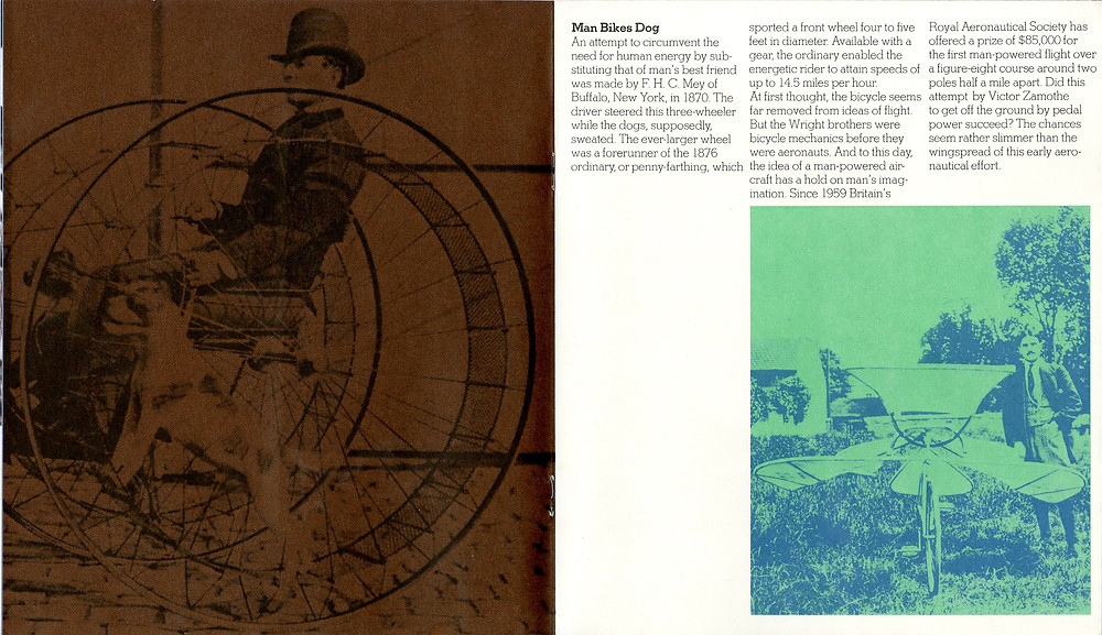 Sanders Printing Corporation featured cycling in one of their Folio issues.