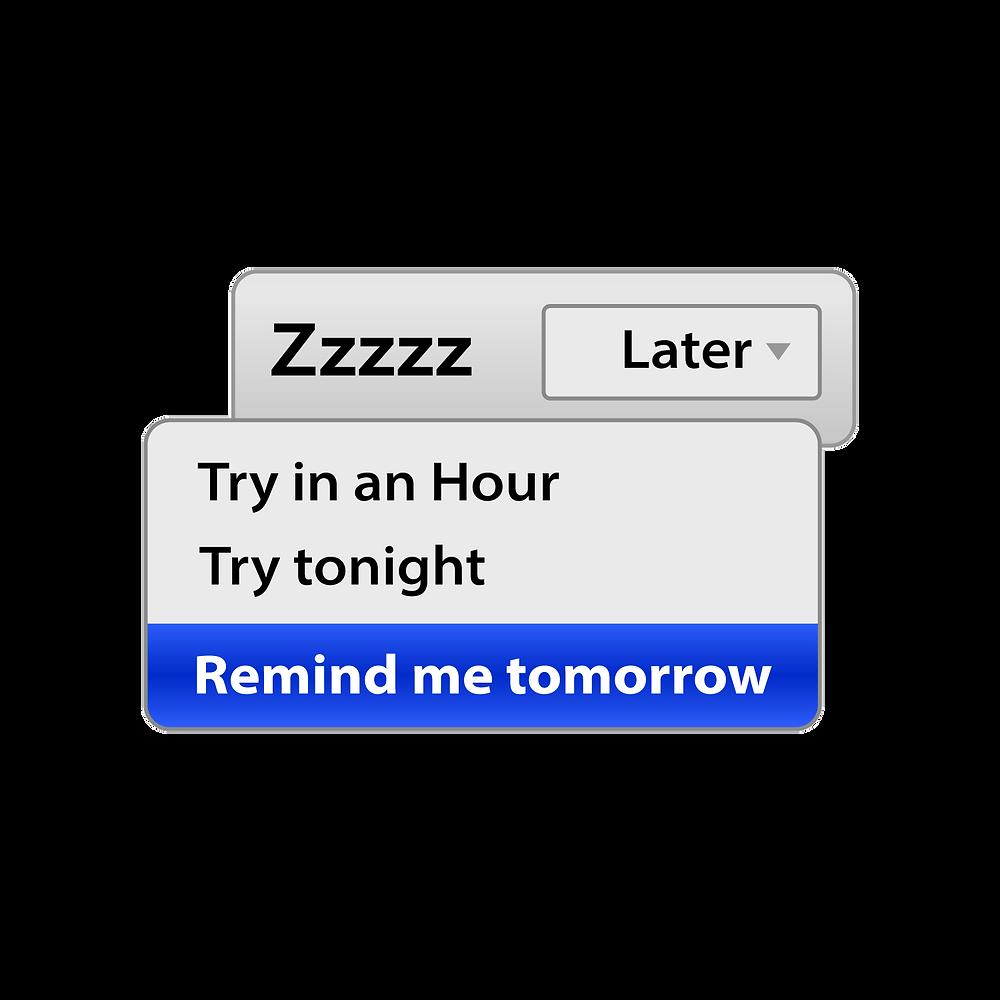 Zzzzz later