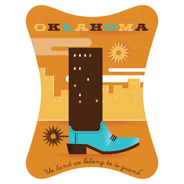 A contribution to The Everywhere Project representing Goad's home state of Oklahoma.