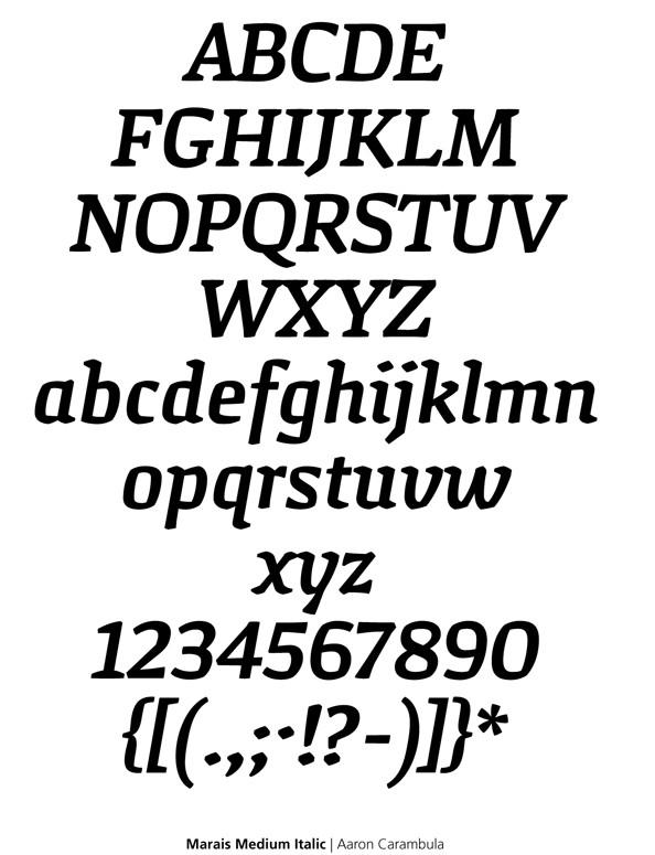 Marais Medium Italic