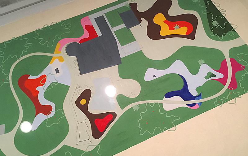 the garden plan for the Burton and Emily Hall Tremaine beach house