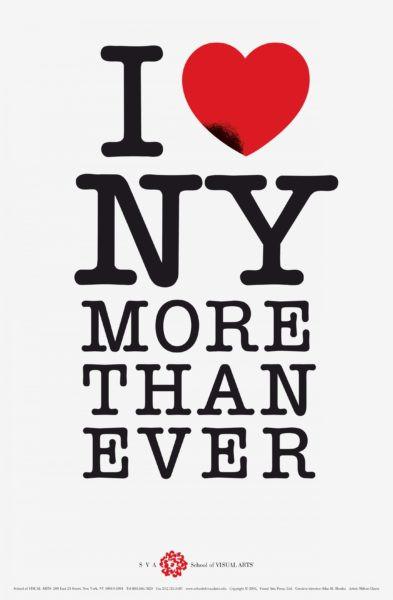 I Love NY More Than Ever, poster, 2001 Designer Milton Glaser United States