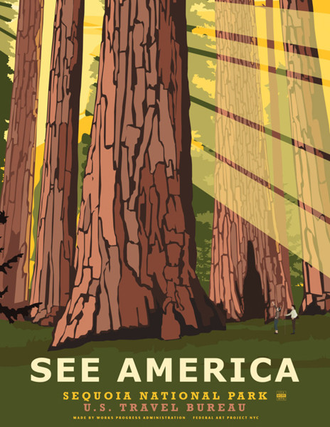 """See America posters: This """"See America"""" poster series by Stephen Thompson brings to life a number of national parks and landmarks."""