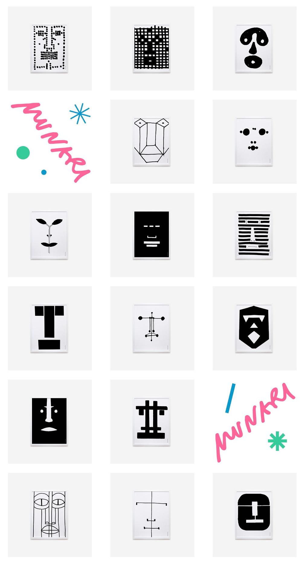 Alla facia is a book of faces.