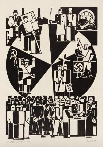 "Gerd Arntz. ""Election Wheel,"" 1932."