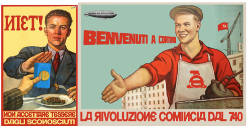 digitally manipulated Soviet propaganda posters
