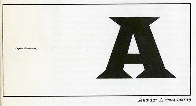 "angular ""A"" went astray"
