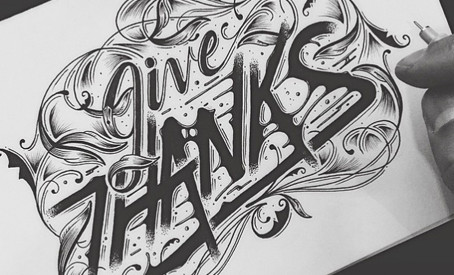 Thanksgiving Hand Lettering Inspiration