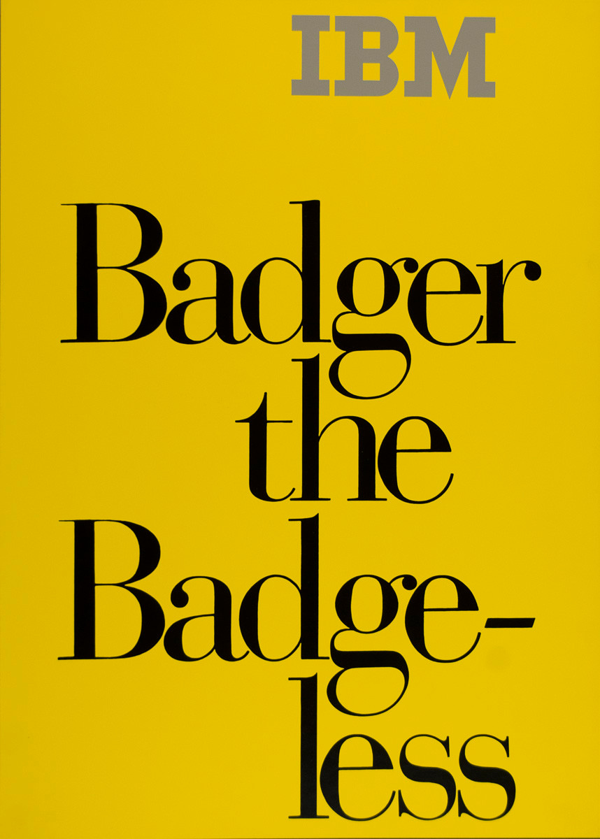 Badger the Badge-less