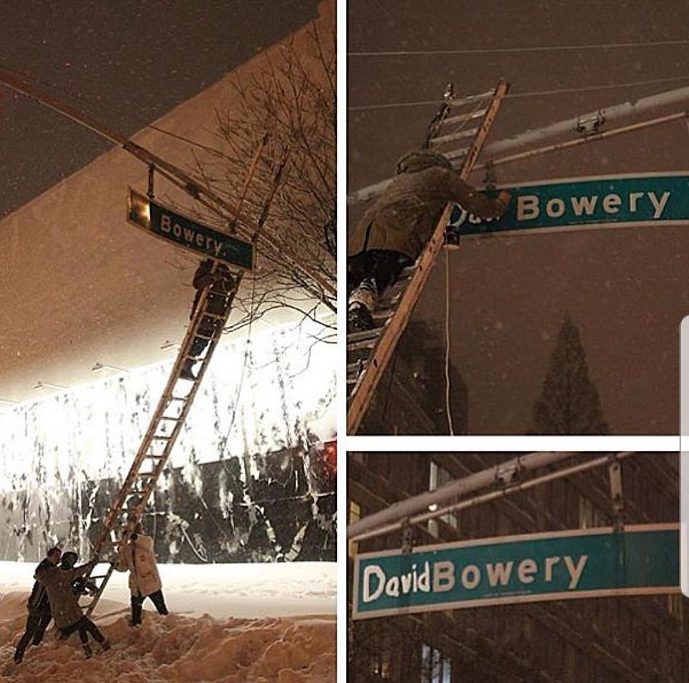 Road sign- David bowery