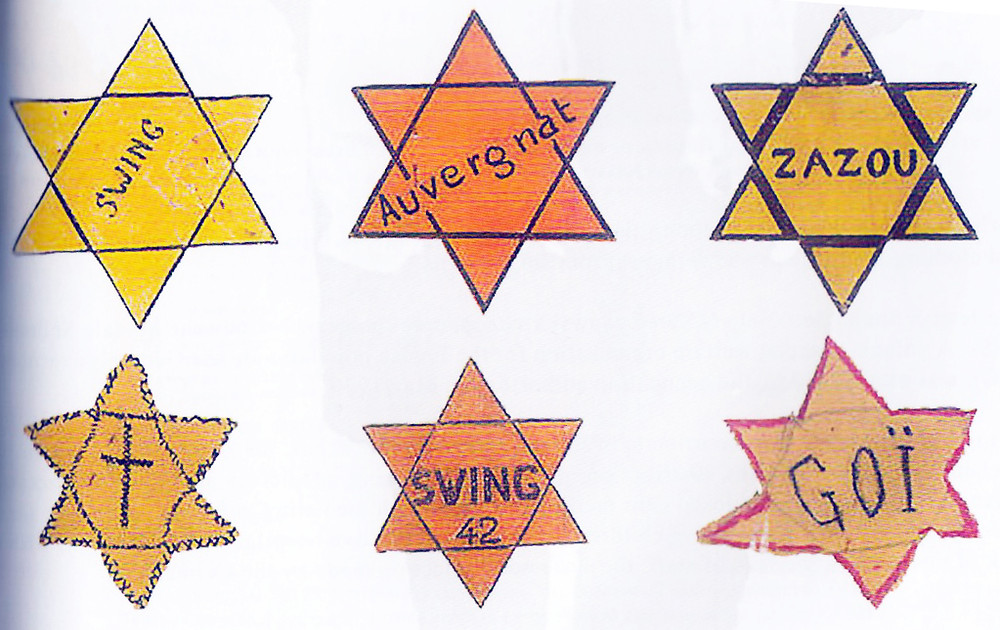 Zazous stars represented French anti-Nazi and anti-Vichy youth who wore these stars as protest.