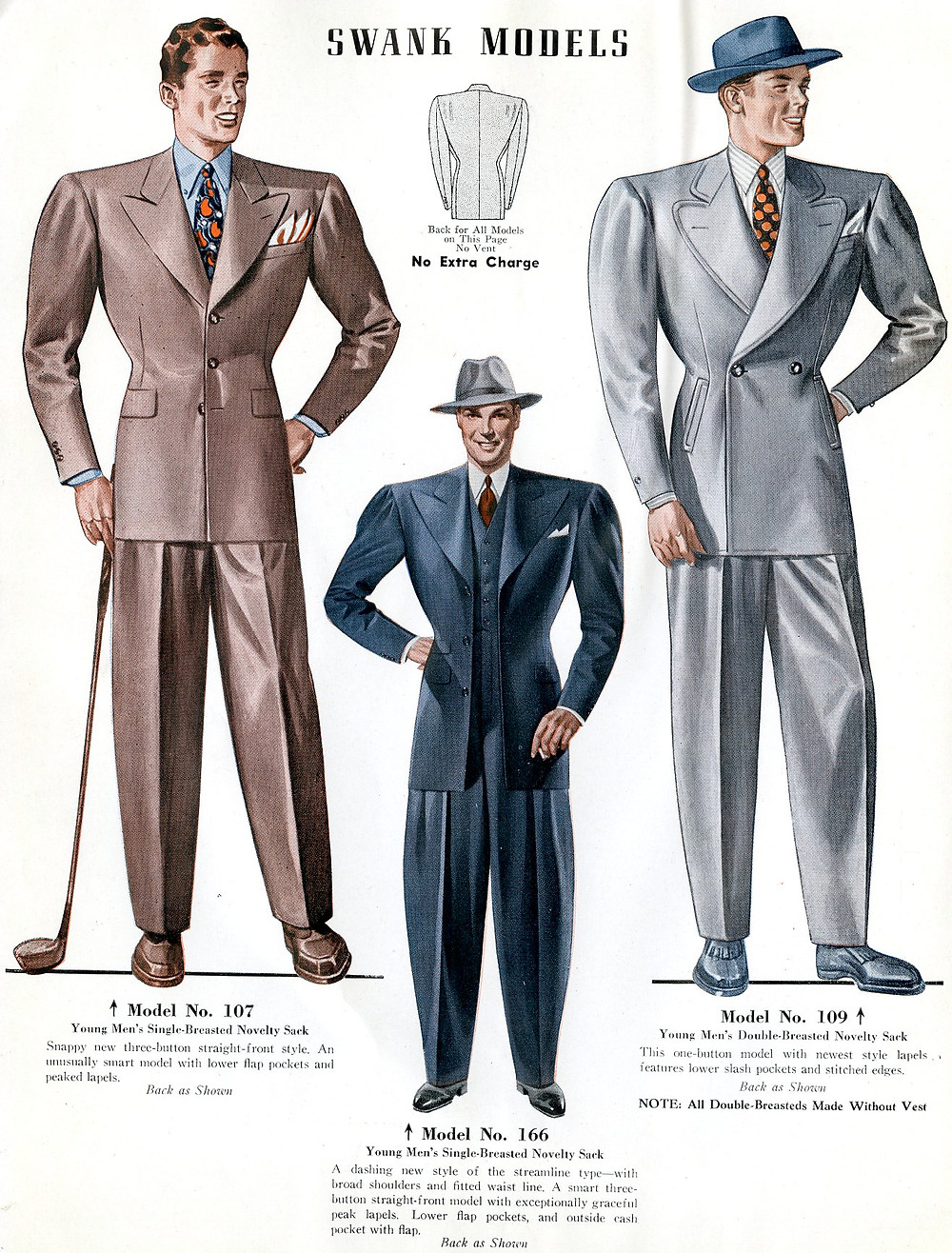 1940s fashion swank suits for men