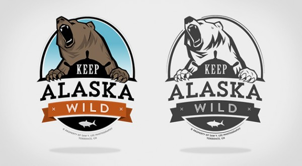 keep-alaska-wild-logo-illustration-design