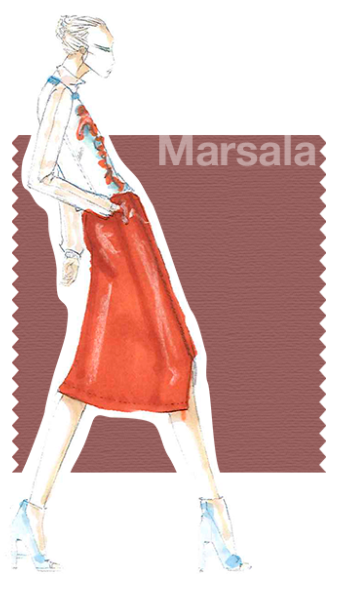Pantone Color of the Year 2015—18-1438-Marsala