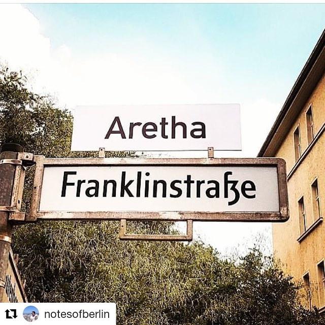 street sign- aretha Franklinstrasse