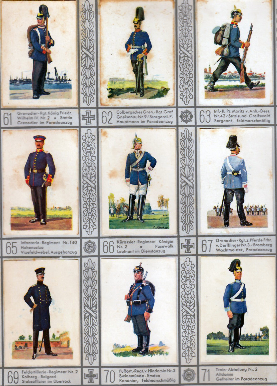 Waldorf-Astoria Cigarette Company put together Uniforms of the Old Army.