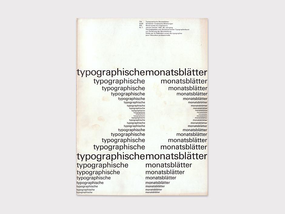 1961Typografische Monatsblätterdesign byEmil Ruder